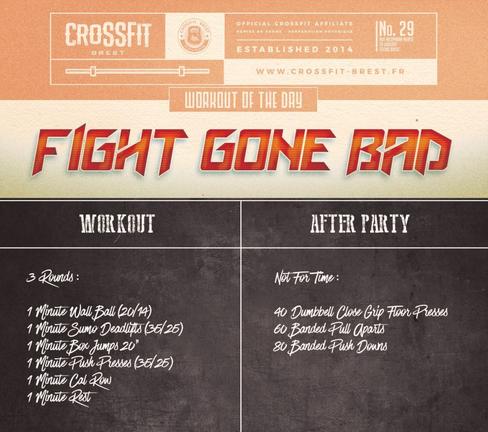 Wod du jour: Fight Gone Bad