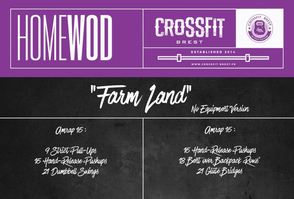 Home WOD Vendredi 20 Mars FARM LAND